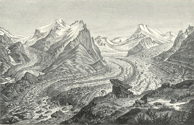 unknown artist, glacier